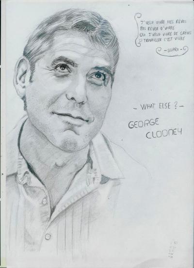 George Clooney by gazl92arts